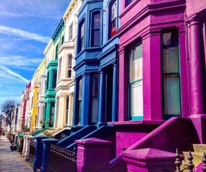 colors, travel, and london image