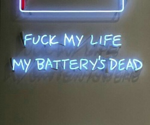 battery, blue, and light image