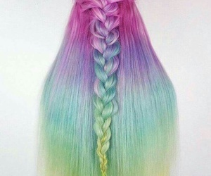 braid, colorful, and pink image