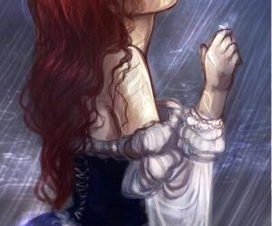 ariel, disney, and rain image