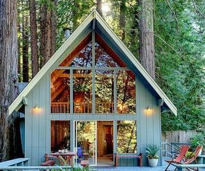 home, forest, and beautiful image