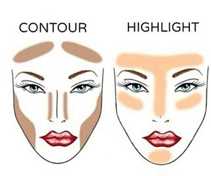 contour, highlight, and make up image