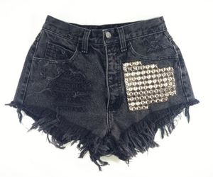 distressed jeans, studded shorts, and vintage shorts image