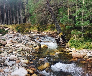 river, scotland, and sun image