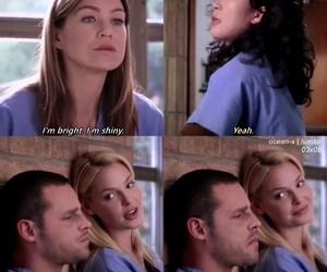 ellen pompeo, izzie stevens, and justin chambers image
