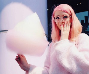 aesthetic, youtube, and cottan candy image