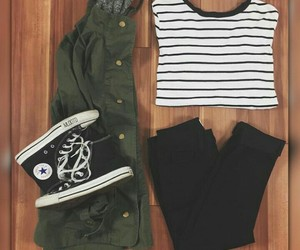 black, clothes, and converse image