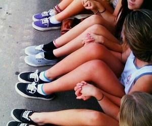 girl, vans, and friends image