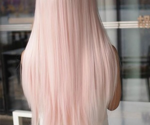 hair, pink, and pastel image