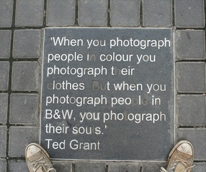b&w, photograph, and quotes image