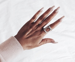 nails, ring, and hand image