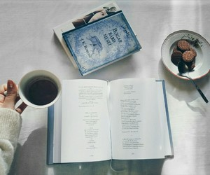 biscuits, book, and coffe image