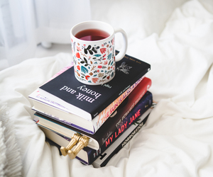 books, coffee, and fashion image