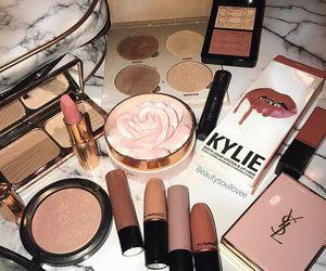 lipstick, makeup, and woman image