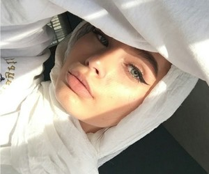 hijab and white image