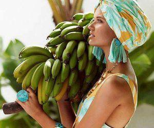 bananas, outdoors, and summer image