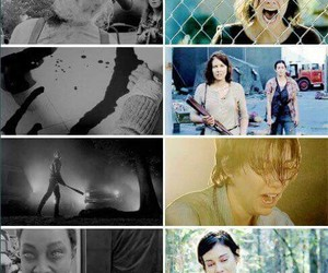 Maggie, twd, and sad image