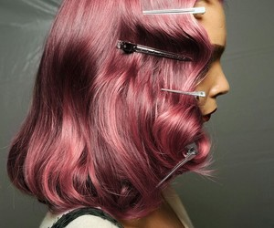 beauty, pink hair, and girl image