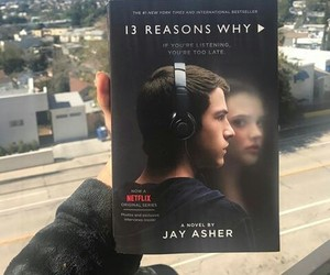 clay jensen, book, and series image