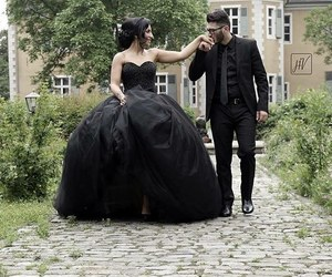 black dress, dress, and married image