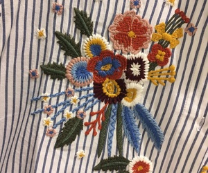 alternative, Bershka, and flowers image