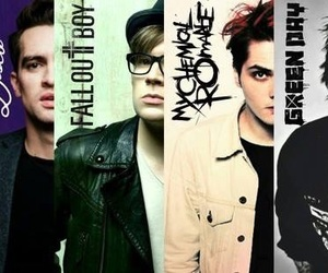 fall out boy, green day, and my chemical romance image