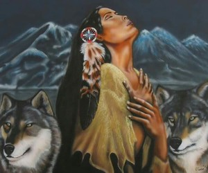wolves -native american image