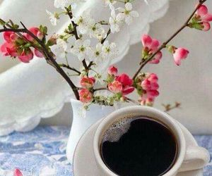 blossoms, coffee, and coffee break image