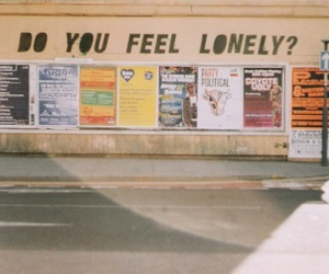lonely, quotes, and street image
