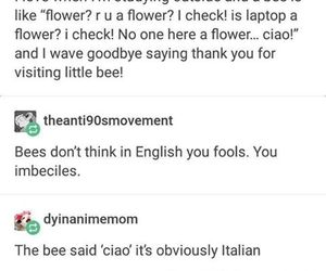 bees and tumblr post image