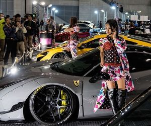 asian girl, ferrari, and liberty walk image