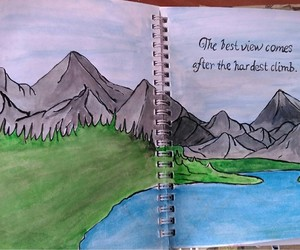 art journal, draw, and grass image