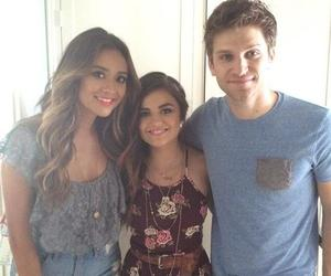 lucy hale, shay mitchell, and keegan allen image