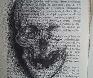 szkic, książka, and czaszka image