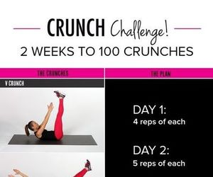 fitness, workout, and crunch image