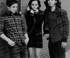 emma watson, logan lerman, and ezra miller image