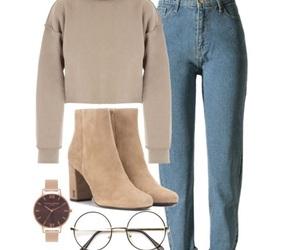 beige, clothing, and fashion image