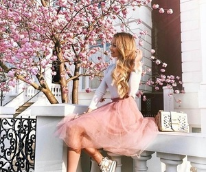 pink, fashion, and spring image