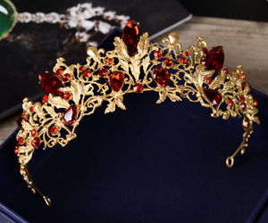 crown, garnet, and gold image