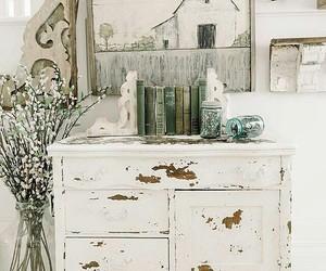 dresser, farmhouse, and home decor image