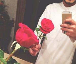 rose, qamis, and muslim image