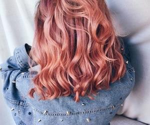 girl, hair, and peach image