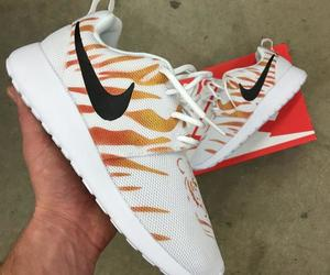 tiger stripes, custom painted sneakers, and nike roshe one image