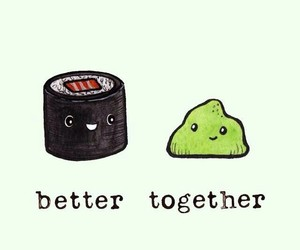 wallpaper, food, and better together image