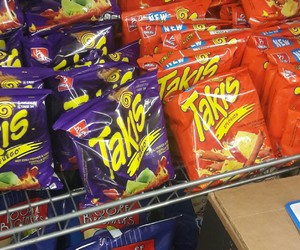 food, shopping, and takis image