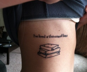 black, book, and tattoo image