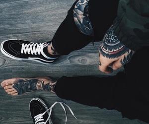 tattoo, black, and vans image