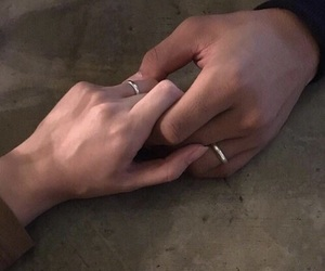 couple, rings, and love image