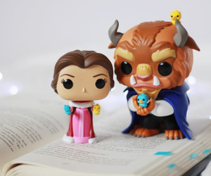 beauty and the beast, book, and cute image