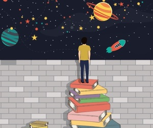 books, libros, and universe image